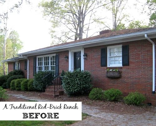 Giving A Basic Brick Ranch Curb Appeal And More The Roof Painted Houses And A House