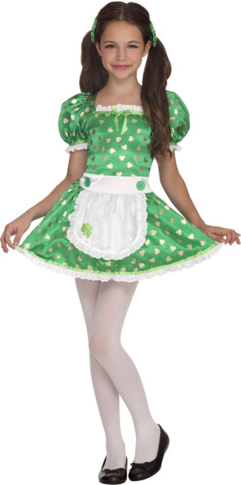 4 clovers and leprechaun costume for dogs