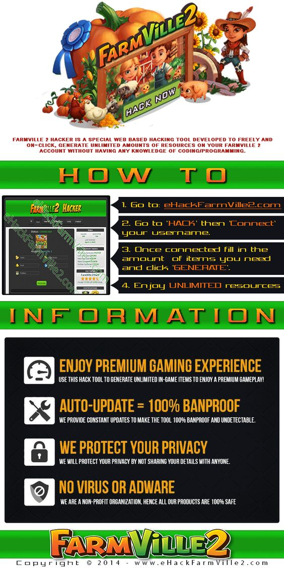 FarmVille 2 Hack 2014 - Web Based / No Download needed! Working proof video is included in the site itself. Link: http://www.ehackfarmville2.com