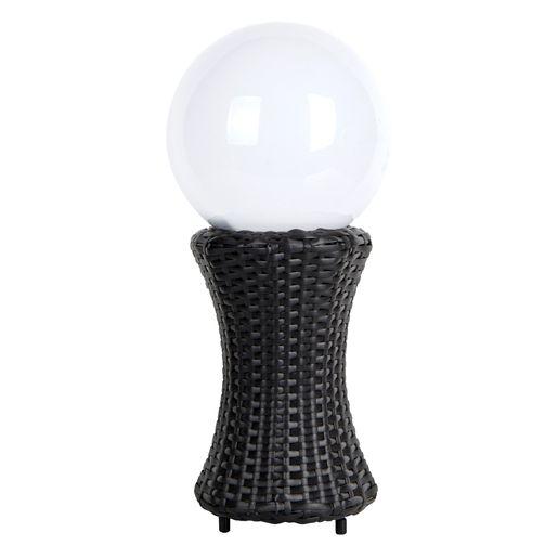 Cette Lampe Facon Rotin Tresse S Adaptera A Tous Les Styles De Salon De Jardin Ou De Decoration D Interieure La Boule De Lumiere I Boule Solaire Led Luminaire