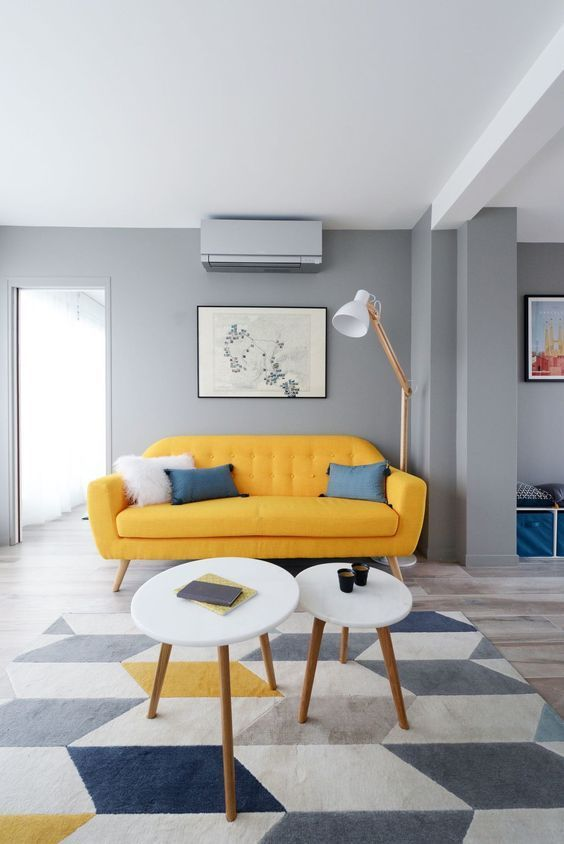 25 Cheerful And Shiny Yellow Living Rooms Engineering Basic In 2021 Yellow Living Room Yellow Home Decor Living Room Sofa Design