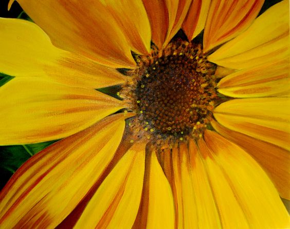 Original Sunflower Painting  Ray of Sunshine by karlinmeehan, #Etsy