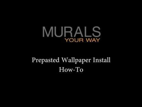 How To Install Prepasted Wallpaper Hang Prepasted Wallpaper Prepasted Wallpaper Murals Your Way Wallpaper