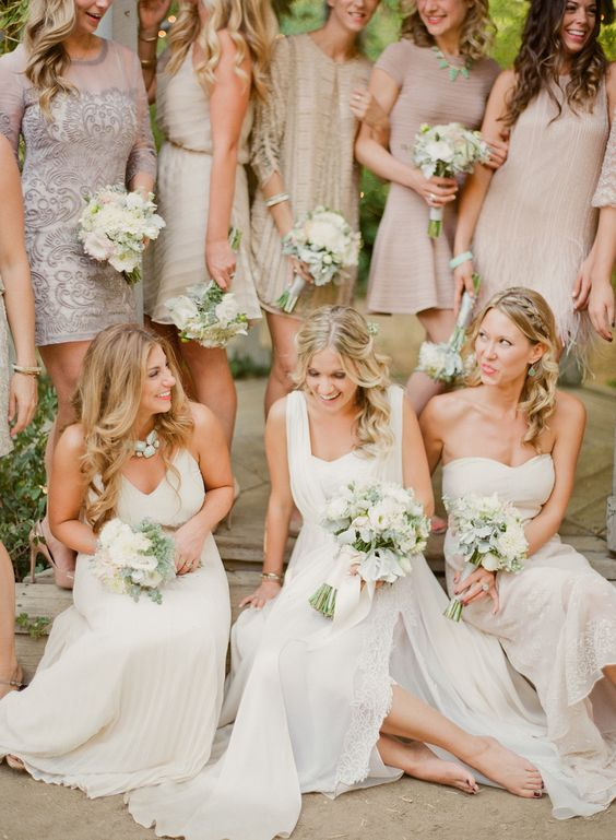 Wedding Farms And Neutral Bridesmaid Dresses On Pinterest