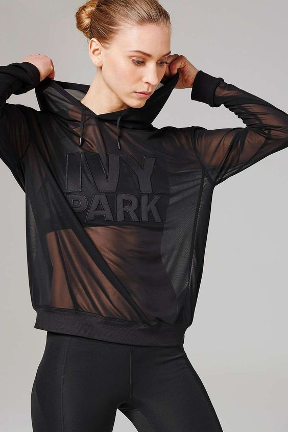 Sheer Mesh Hoodie by Ivy Park - Ivy Park - Clothing - Topshop
