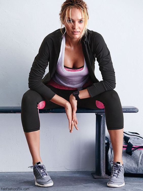 Candice Swanepoel for Victoria's Secret VSX collection.