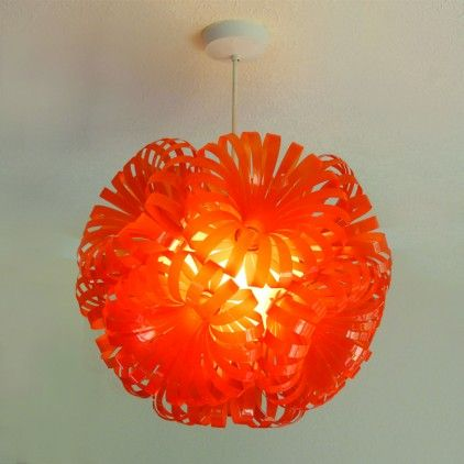 Cola 10 - Ceiling Lampshade by Sarah Turner - Eco Art & Design