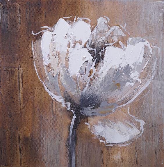 Tableau peinture sur toile fleur perline 1 30x30cm id es for Tableaux peinture sur toile