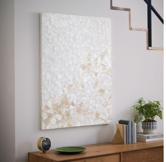 Cadiz wall art crystal - west elm