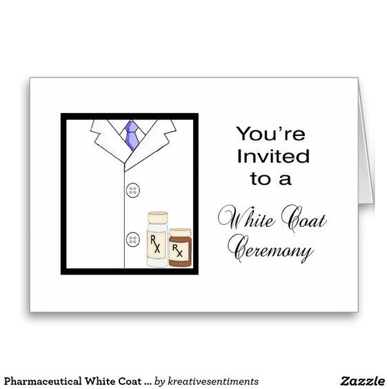 Pharmaceutical White Coat Ceremony Invitation Greeting Cards