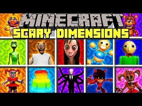 Minecraft Scary Dimensions Mod L Momo Slenderman Fnaf Kick The Buddy Mini Games Fnaf Slenderman
