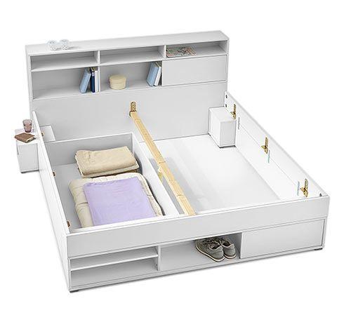 Die besten 25+ Bett mit stauraum tchibo Ideen auf Pinterest - bett regal stauraum ablage