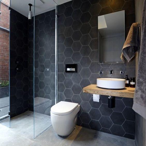 Kule fliser | Baderom | Pinterest | Toaletter, Svart och Matte black : toaletter svart : Inredning