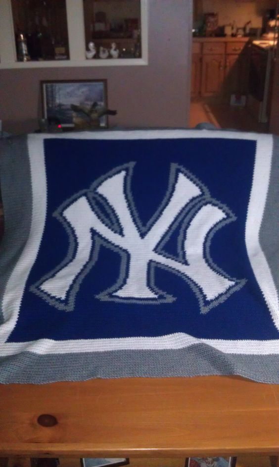 Crochet New York Yankees blanket crochet Pinterest ...
