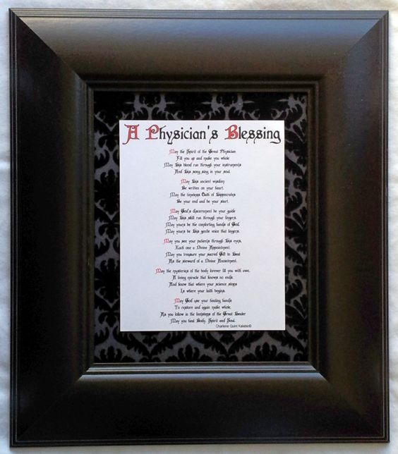 Physician s blessing 8x10 it s hard to imagine a more
