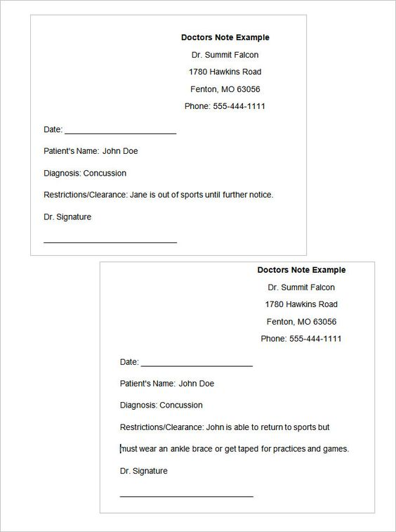 dr note Doctors Note Template Pinterest Notes template - example of promissory note