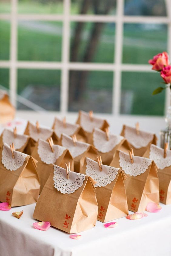 Doilies & brown bags