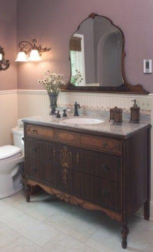 10 Cómodas reutilizables en muebles de baño | Decoración: