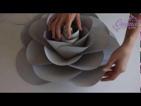 Diy Paper Flower Flower Template 32 Camellia Paper Rose Youtube Handmade Flowers Paper Paper Roses Diy Rolled Paper Flowers