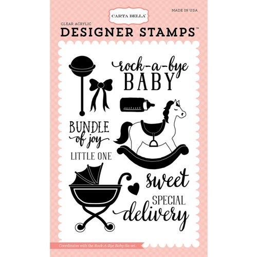 Carta Bella ROCK A BYE BABY Clear Stamps CBRBG63045