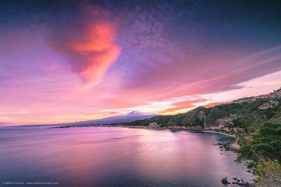 Tramonto su Giardini Naxos. by Mirko Chessari on 500px