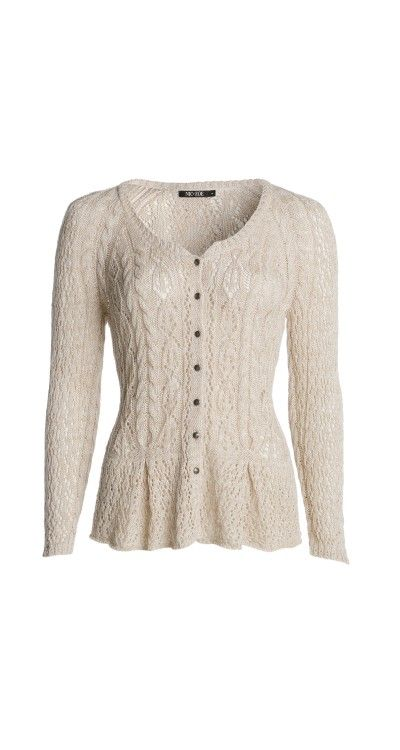 PRETTY PEPLUM CARDIGAN