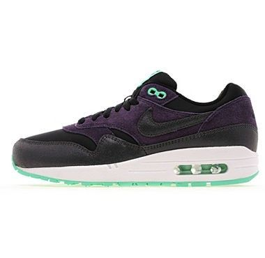 Black/Purple/White/Green Nike Air Max 1 Running Shoes europe