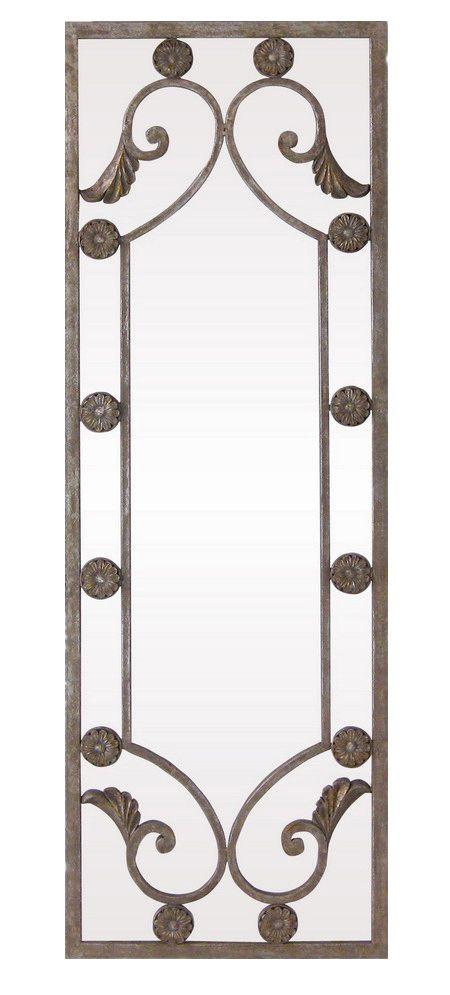 Espejo realizado en hierro viejo color gris plata con aplicaciones sobrepuestas al espejo. Tamaño aprox.: 106x36 cm - See more at: http://www.princesslarashop.com/tienda.php?dir=100&pg=0#sthash.xUvapw8h.dpuf