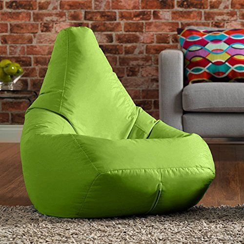 Hi Bagz Outdoor High Back Bean Bag Chair Lime Green Water Resistant Weather Proof Garden Or Indoor Gamer Bean Bags Bean Bag Chair Kids Bean Bags Bean Bag Gaming Chair