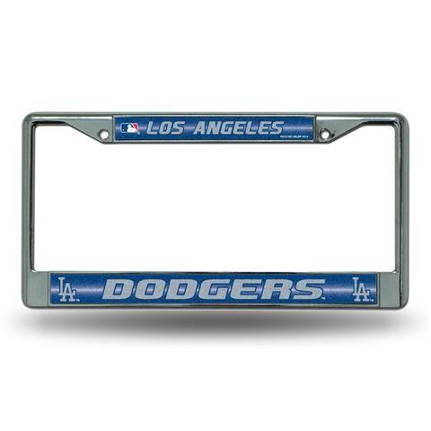 Los Angeles Dodgers Bling Glitter Chrome License Plate Frame #LosAngelesDodgers