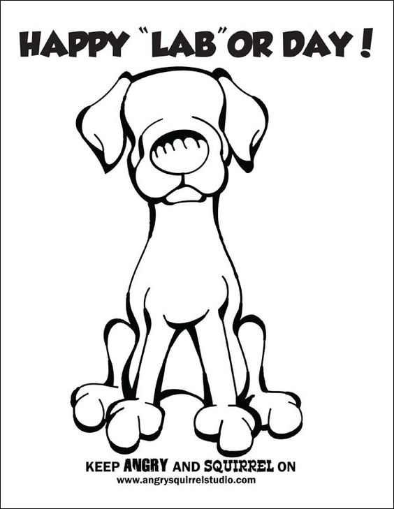 "Download Free Coloring Pages ... Happy ""LAB""or Day"