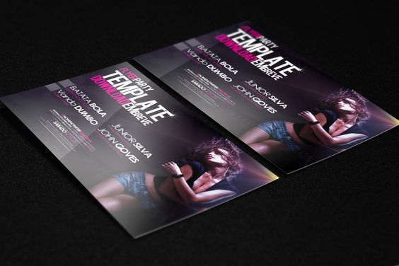 Template Flyer Girl Dance by Cyber 9 Pictures , via Behance