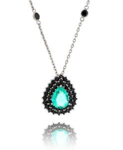 comprar colar tiffany com zirconias turmalina e negra semi joias modernas