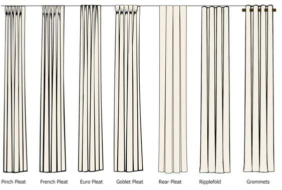 #design #interior #interiordesign  #fabrics #textile  {Pleat Styles}: