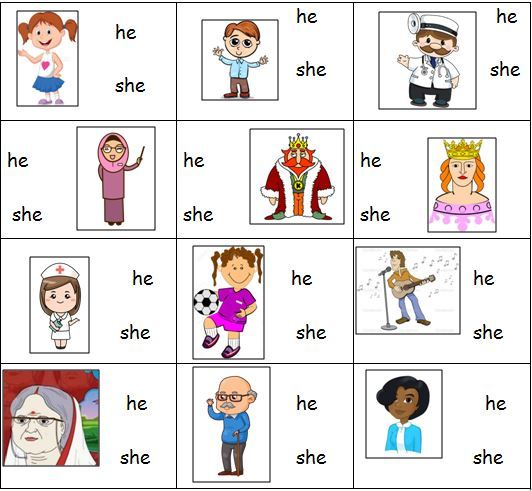 Personal Pronouns Worksheet for \'he\' and \'she\' | Classroom ...