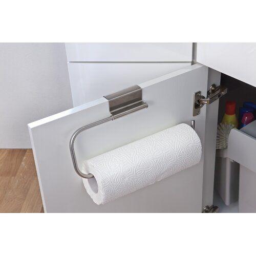 Symple Stuff Kitchen Door Comfort Wall Mounted Paper Towel Holder Wayfair Co Uk In 2020 Kitchen Roll Kitchen Roll Holder Door Hangers