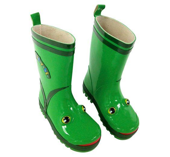 Frog Themed Rain Boots! Visit www.shopconnies.com | Boy Rain Gear