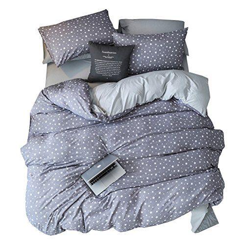 Warmgo Lightweight Grey Duvet Cover Set King Hidden Zipper Closure Black Heart Pink Bedding Set 4 Piece 1 Du Gray Duvet Cover Pink Bedding Set Duvet Cover Sets