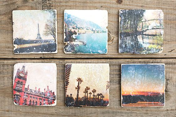How to Turn Your Favorite Selfies Into Giftable Coasters  - ELLE.com