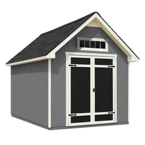 Heartland 12 Ft X 8 Ft Rockport Gable Engineered Storage Shed Lowes Com Wood Storage Sheds Small Shed Plans Storage Shed