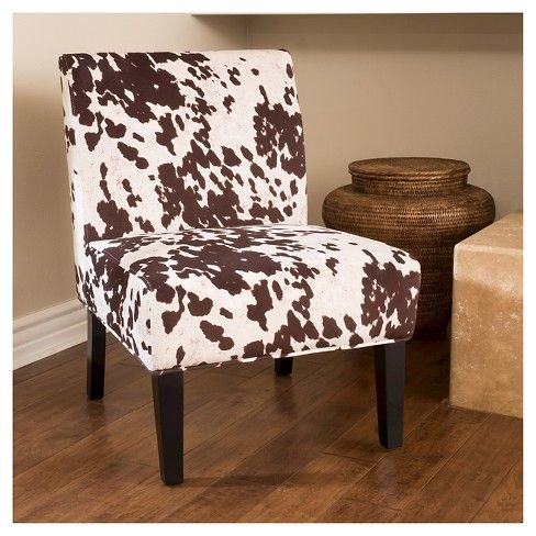Saloon Cowhide Print Dining Chair Milk Cow Christopher Knight