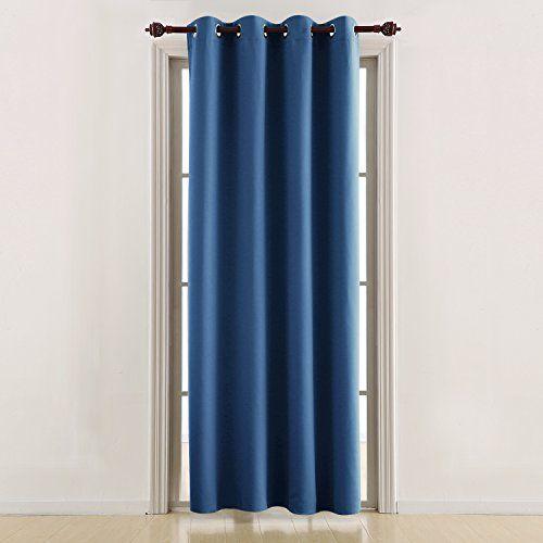 Deconovo Rideaux Bleu Occultant A Oeillets Chambre Isolant Thermique Rideau Salon Decoration En Chambre Pour Enfa Rideaux Oeillets Rideau Isolant Rideaux Bleus