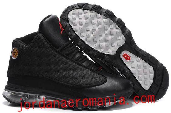 2011 Air Jordan 13 Air Max 2009 Sole Fusion Charcoal Noir/Turbid Blanc: Nike
