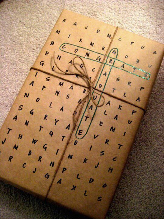 Graduation Gift Wrapping Ideas Part - 34: Una Envoltura Muy Original, Puedes Formar Las Frases Según Tus Deseos!    Gifts   Pinterest   Wraps, Gift And Wrapping Ideas