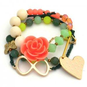 Pulsera Infinito Corazón  Compra tus accesorios desde la comodidad de tu casa u…