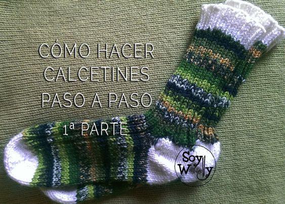 C mo tejer calcetines con dos agujas 1 parte patr n http - Como hacer calcetines de lana a dos agujas ...