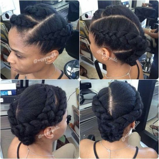 Braid Bar Nappy Republic 2 Braids Without Lots Of Tension To Make The Hair Look Thicker Find Us Hair Styles Natural Hair Styles Quick Natural Hair Styles