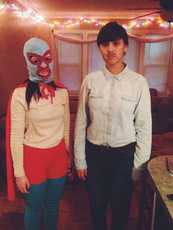 Halloween costumes. Pedro and nacho Libre.