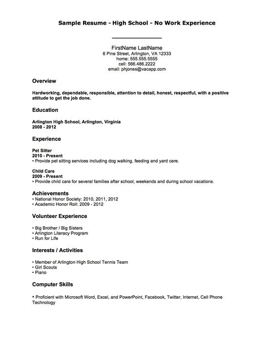 need help in writing a resume