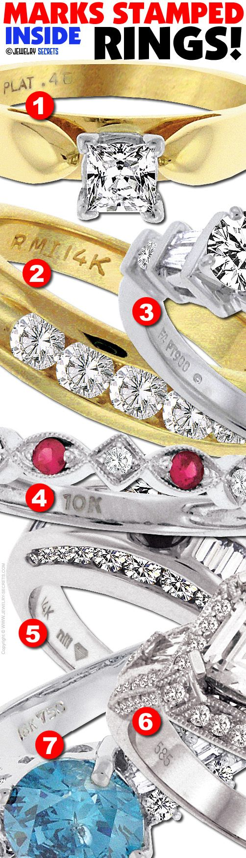 Metals the o 39 jays and rings on pinterest for What does hallmarked mean on jewelry